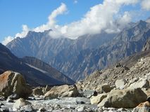 Sakraler Himalaja Gangotri Stockbild