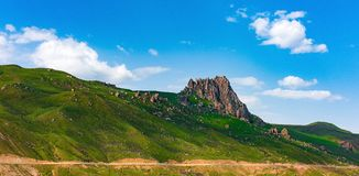 Sakralt berg Besh Barmag Arkivfoto