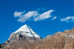Sakralt berg i Tibet arkivbilder