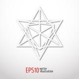 Sakralt geometrisymbol 3d Alkemi-, religion-, filosofi-, astrologi- och andlighetteman Metatrons tecken ockult Arkivbild