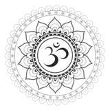 Sakralt sanskritiskt symbol Om Arkivfoton
