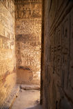 Sakralt ställe i det forntida tempelet, Egypten arkivbild