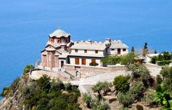 sakralt tempel för athosgeorge kloster s fotografering för bildbyråer