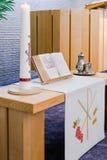 Sakrament der Kommunion, Symbol des heiligen Abendmahl lizenzfreies stockbild