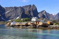 Sakrisoy, Lofoten,挪威 图库摄影