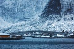 Sakrisoy village, Lofoten Royalty Free Stock Images