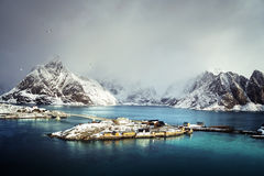 Sakrisoy village, Lofoten islands Royalty Free Stock Photos
