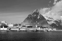 Sakrisoy village, Lofoten islands, Norway Royalty Free Stock Photos