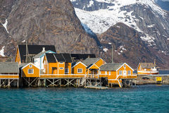 Sakrisoy village, Lofoten, Norway Stock Photography