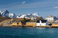Sakrisoy village, Lofoten, Norway Stock Photos
