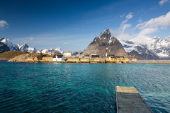 Sakrisoy village, Lofoten, Norway Royalty Free Stock Image