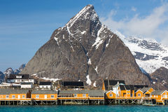 Sakrisoy village, Lofoten, Norway Stock Images
