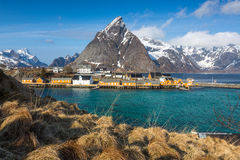 Sakrisoy village, Lofoten, Norway Stock Image