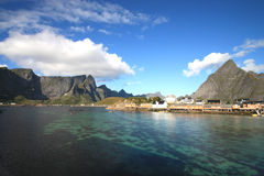 Sakrisoy¨in Lofoten's village Stock Photography