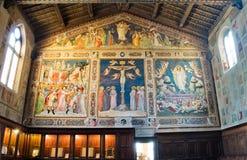 Sakristei der Basilikadi Santa Croce. Florenz, Italien Lizenzfreies Stockfoto