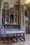 Sakristian är ett rektangulärt utrymme av 12 vid 22 meter, en förlage Royaltyfri Bild