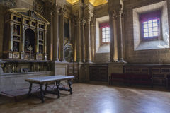 Sakristian är ett rektangulärt utrymme av 12 vid 22 meter, en förlage Royaltyfria Bilder