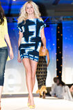 Saks Fifth Avenue Fashion Show. PHOENIX, AZ - MARCH 15: A model walks the runway at the annual Saks Fifth Avenue Xavier Prep Fashion Show on March 15, 2009 in royalty free stock photography
