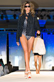 Saks Fifth Avenue Fashion Show. PHOENIX, AZ - MARCH 15: A model walks the runway at the annual Saks Fifth Avenue Xavier Prep Fashion Show on March 15, 2009 in stock images