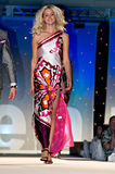 Saks Fifth Avenue Fashion Show. PHOENIX, AZ - MARCH 15: A model walks the runway at the annual Saks Fifth Avenue Xavier Prep Fashion Show on March 15, 2009 in stock image
