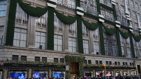 Saks Fifth Avenue in New York Stock Photography