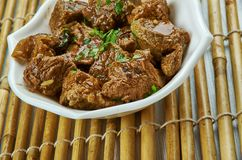 Saksang. Savory, spicy dish from the Bataks of Indonesia,made from minced pork or dog mea Royalty Free Stock Photos