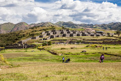 Saksaywaman Fortress Cusco Peru Royalty Free Stock Photo