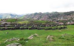 Saksaywaman Ruin in Peru Stock Photo