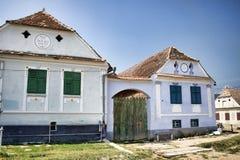 Saksische huizen Royalty-vrije Stock Foto