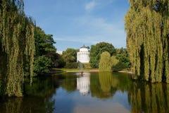 Saksische tuin in Warshau, Polen stock foto