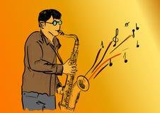 saksofon Zdjęcia Royalty Free
