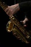 saksofon gracza Zdjęcia Stock