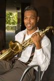 saksofon gracza Fotografia Stock