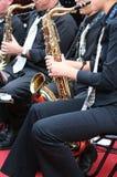 saksofon gracza Zdjęcia Royalty Free