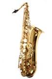 Saksofon odizolowywający na biały tle zdjęcie stock