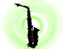 Saksofone di Blask Immagine Stock Libera da Diritti