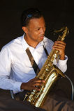 saksofonistów modni potomstwa obrazy stock