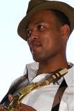 saksofonistów modni potomstwa fotografia royalty free