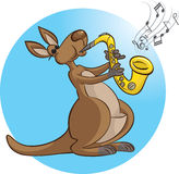 Saksofonista Royalty Ilustracja