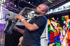 saksofonista Obrazy Stock