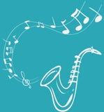 Saksofonowa melodia royalty ilustracja