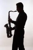 Saksofonowy gracz Zdjęcia Royalty Free