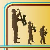 saksofonu retro tercet Zdjęcia Stock