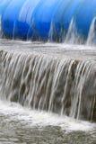 Sakta flöde av bevattnar Fotografering för Bildbyråer