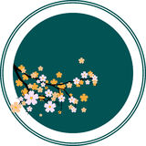 Sakura. Vector illustration -Oriental cherry tree Stock Photos