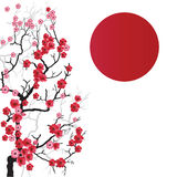 Sakura Branch03 Royalty-vrije Stock Afbeelding