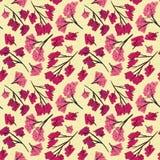 Sakura branches pattern texture beige background designer royalty free illustration