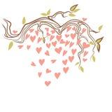 Sakura con el corazón fotografía de archivo