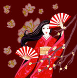 Sakura dance stock illustration
