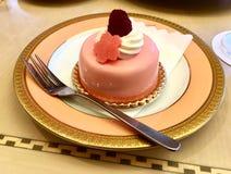 Sakura dessert mousse. Amazing dessert in Tokyo Sakura season stock image